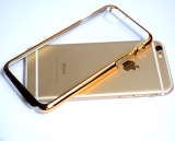 Pouzdro iPhone 6/6S Crystal Clear Case Gold  čiré-zlaтé